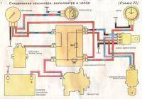 Просмотров: 9914 Электросхема автомобиля ВАЗ-2107 инжектор.  Приводной нагнетатель ПК 23-1.
